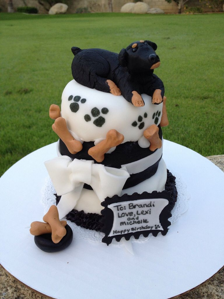 This Beautiful Rottweiler Cake Looks Delicious Cake Dog