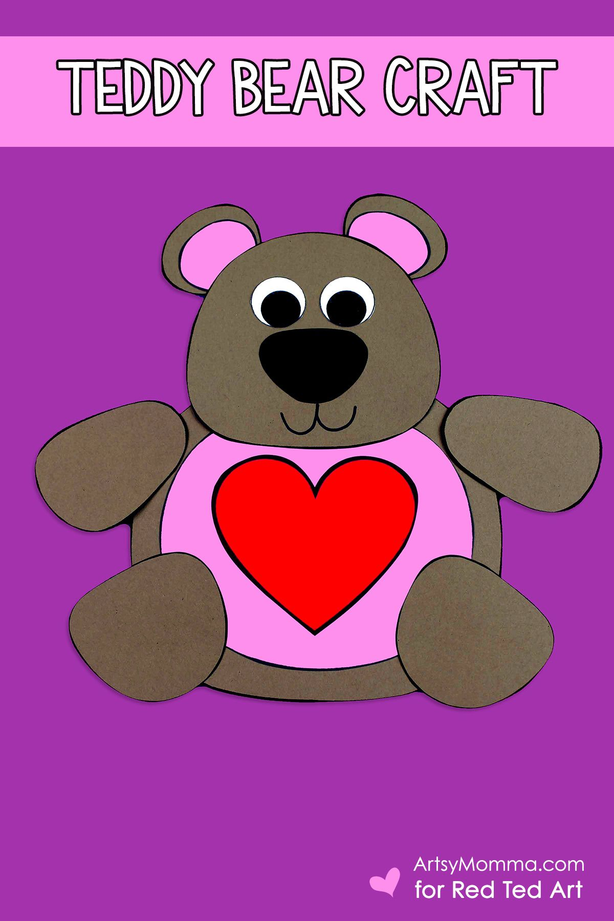 Cute Valentine S Teddy Bear Craft Printable In With