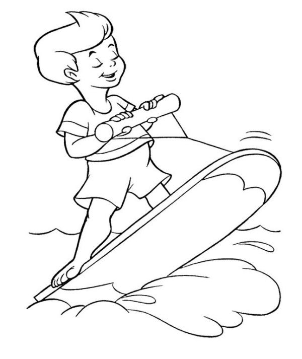 Summer With Fun Coloring Page For Kids