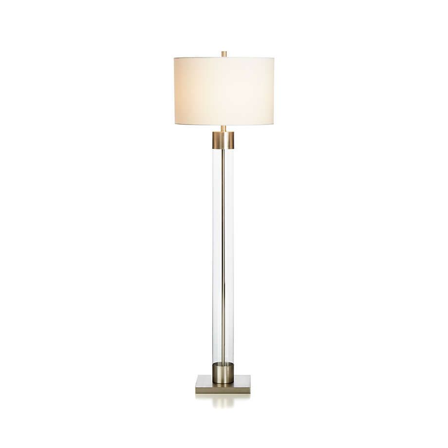 Avenue Nickel Floor Lamp Reviews Crate And Barrel In 2021 Nickel Floor Lamp Glass Floor Lamp Extra Tall Floor Lamp