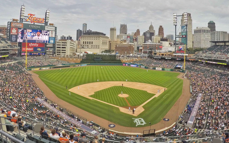 Comerica Park Detroit Mi Home Of The Detroit Tigers Mlb Stadiums Baseball Stadium Major League Baseball Stadiums