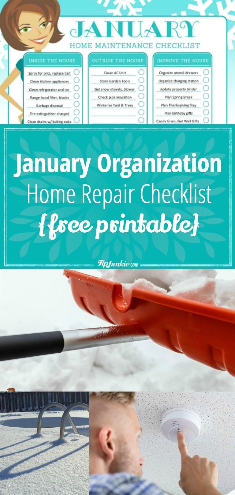 Photo of Januar Checkliste für Organisation und Reparatur zu Hause [printable]
