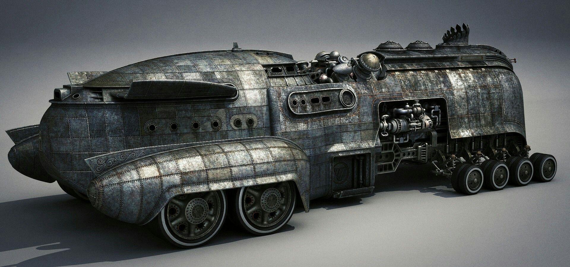 Картинки по запросу Steampunk transport