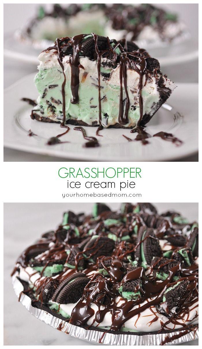 Grasshopper Ice Cream Pie - Your Homebased Mom