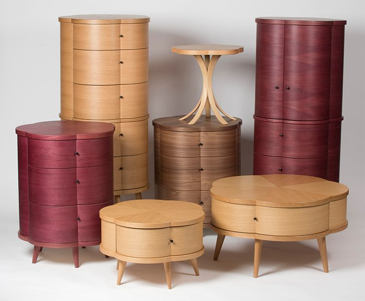 Drawer dressers, drawer side tables, drawer coffee tables | Blossom Collection by Mike Lam Design (Mike Lam - designer + Steve Thompson - craftsman)