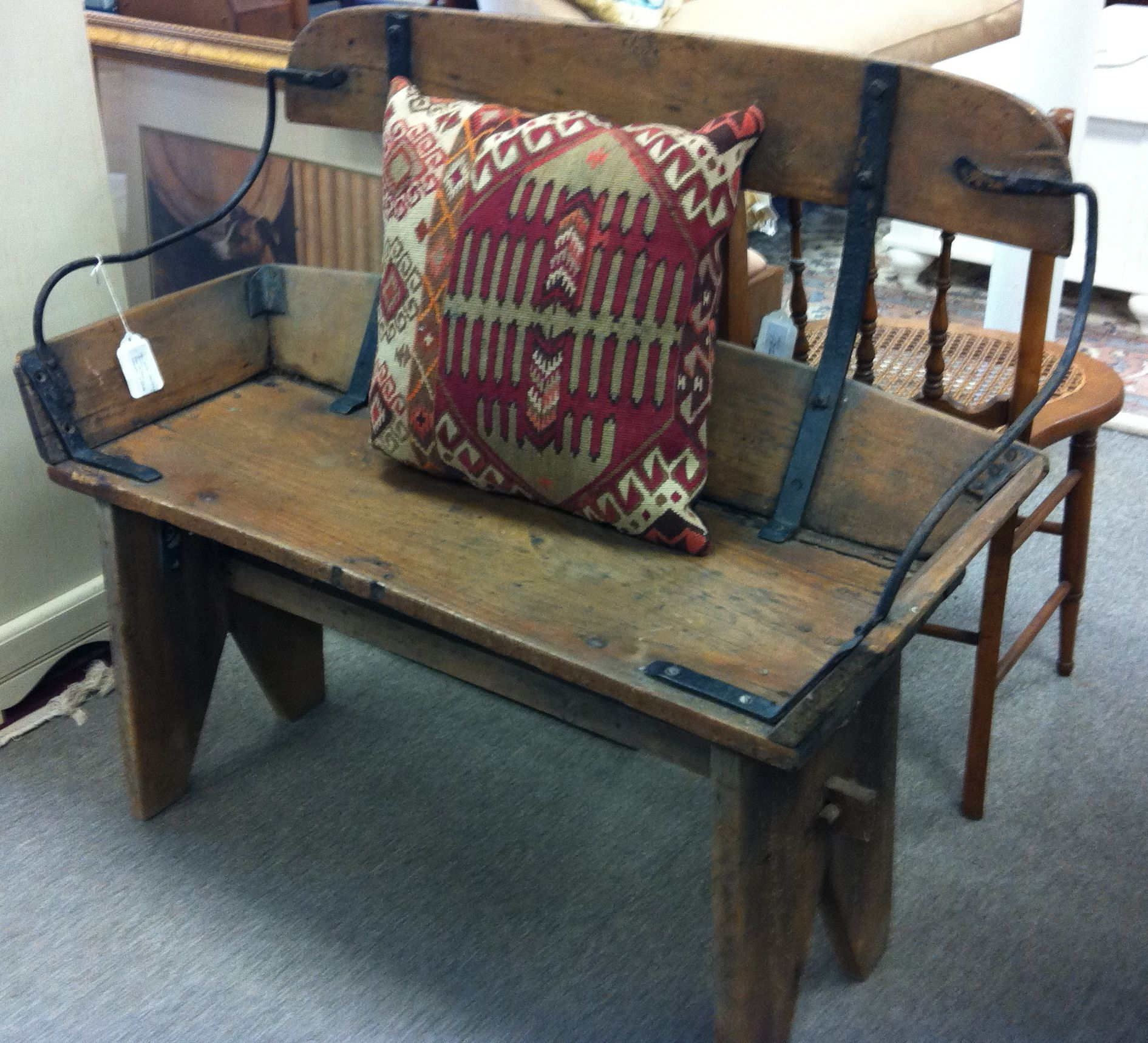 we absolutely love this antique buggy bench
