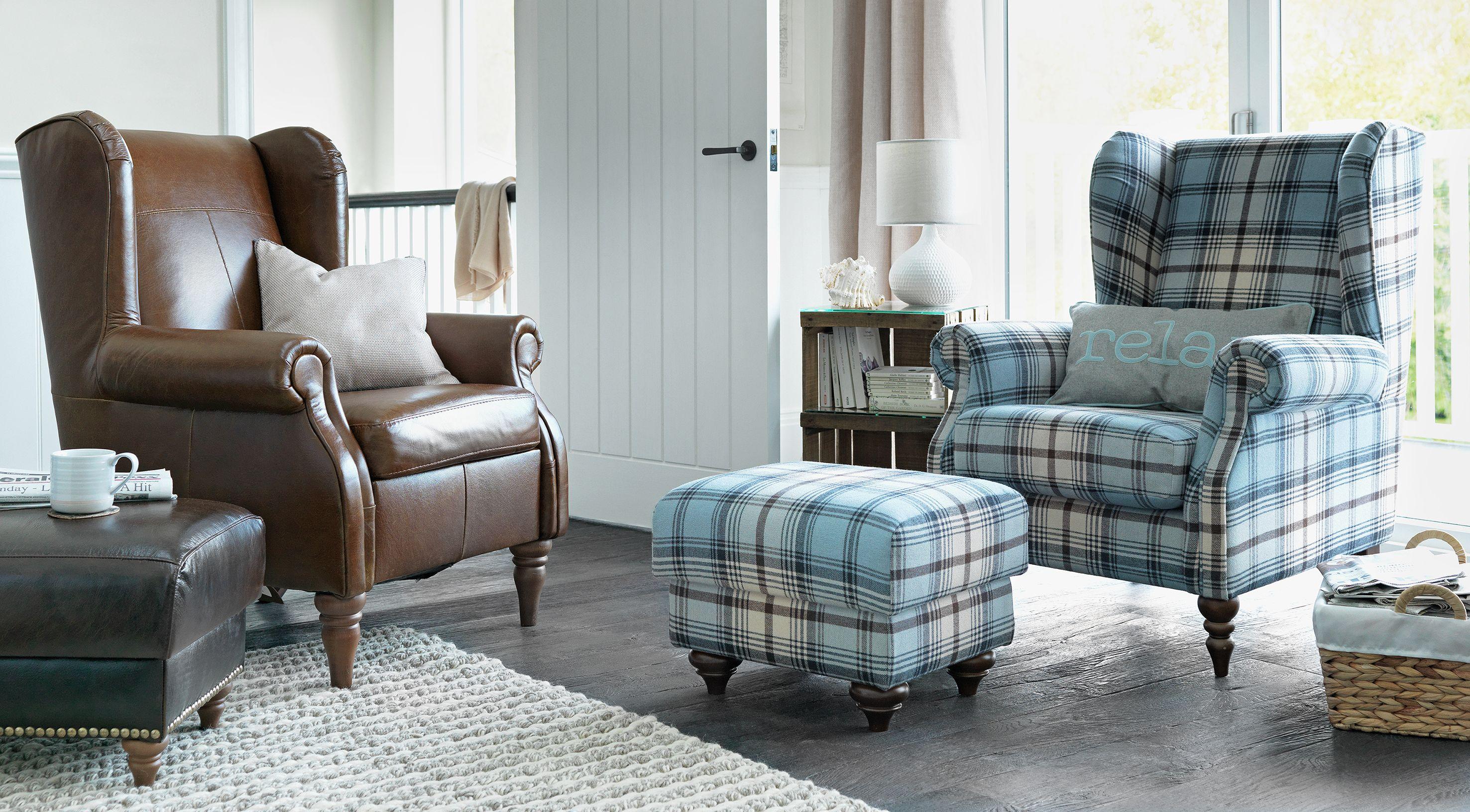 buy heart of house argyll fabric chair  skye tartan at
