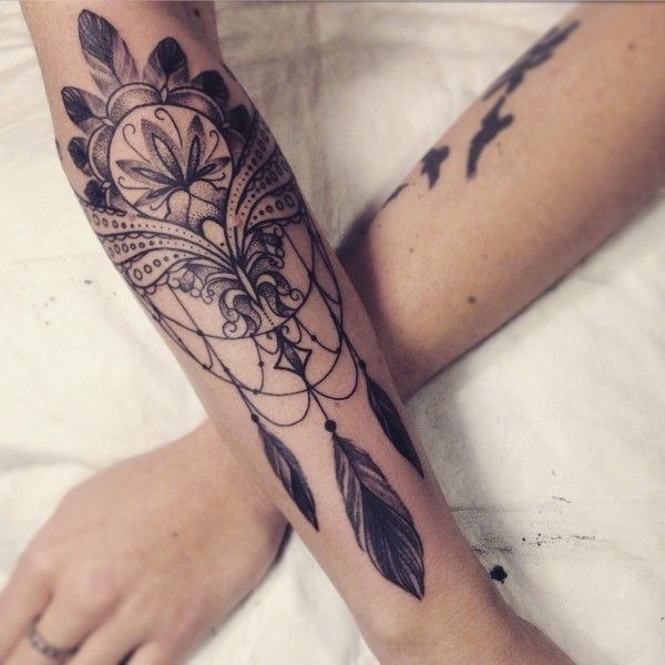 Dream Catcher Tattoo On Arm Entrancing Beautiful Dream Catcher Tattoo  Google Search  Tattoos  Pinterest Inspiration Design