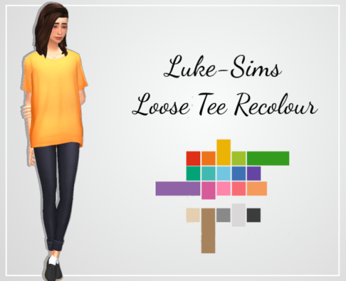 Luke-Sims 100 followers gift!  Hey there, thank you so so so much for 100 followers! I cannot believe that we have reached 100 followers already! So to thank you for getting me here, I decided to recolour one of my staple pieces of CC I need to...