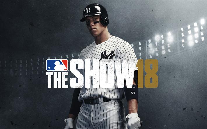 Download Wallpapers Mlb The Show 18 4k Sports Simulator 2018 Games Baseball Besthqwallpapers Com Mlb The Show Baseball Baseball Videos