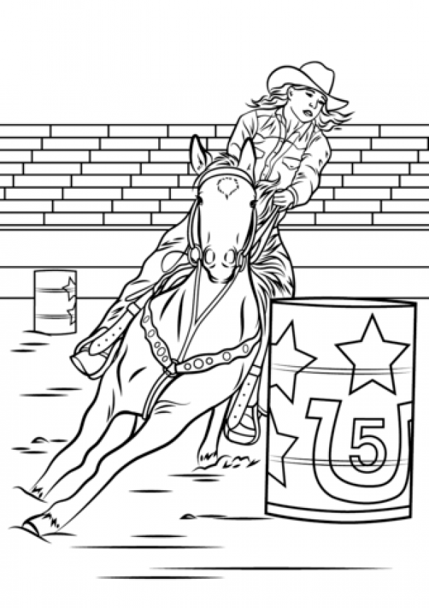Horse Barrel Racing Coloring Page From Rodeo Category Select From 27057 Printable Crafts Of Cartoons Nature Horse Coloring Horse Coloring Pages Coloring Pages
