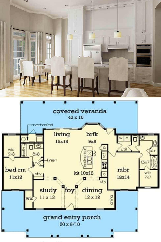 3 Bedroom Single-Story Modern House with Optional Garage (Floor Plan)