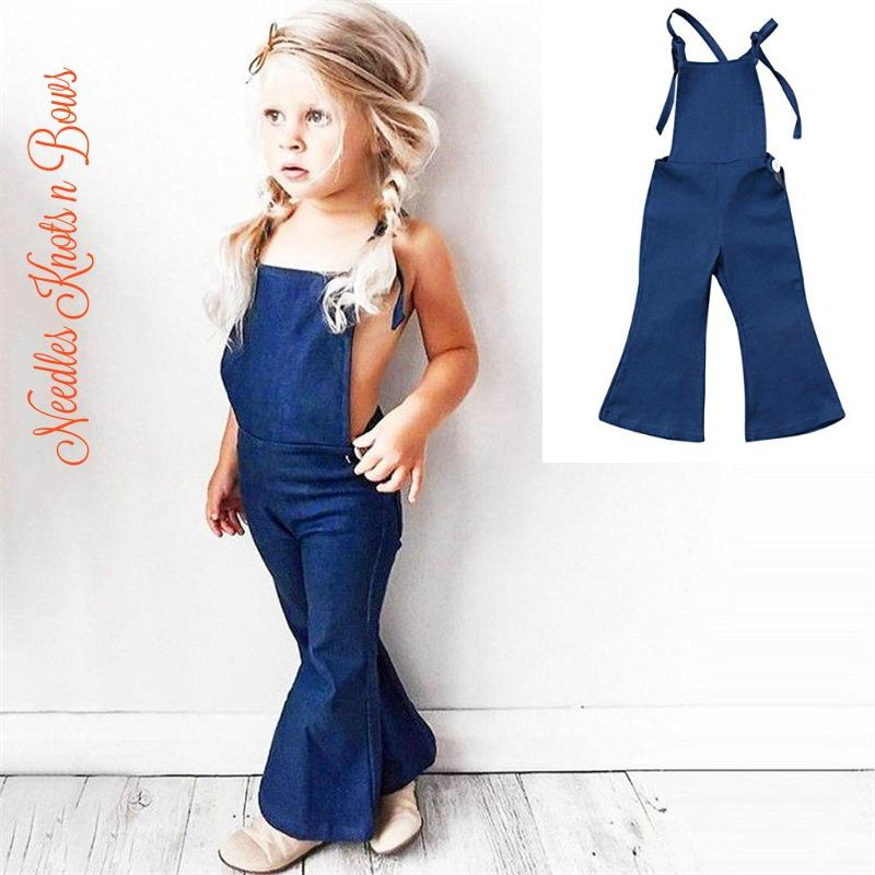 B Annie New Summer Kids Baby Girls Strap Cotton Romper Jumpsuit Harem Trousers Summer Clothes