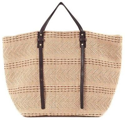 Joanna Maxham Beachcomber Beach Bag In Natural - Polyvore
