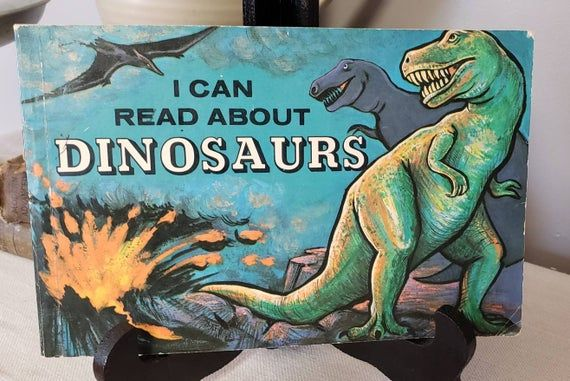 I Can Read About Dinosaurs by John Howard/Paperback/Kid's Room Decor/Nursery/Baby Shower/Birthday Gift/Vintage Dinosaurs/Homeschooling