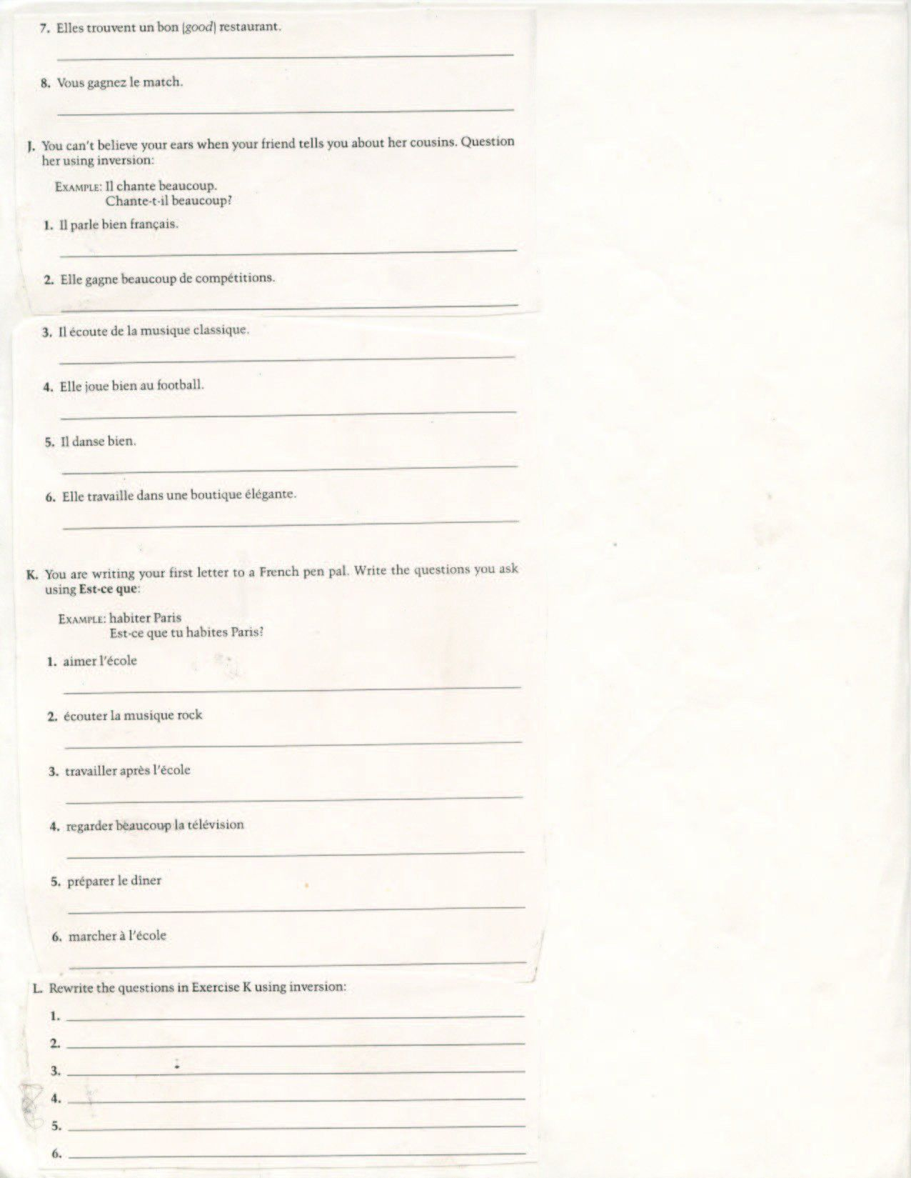 8th Grade Poetry Worksheet 8th Grade French In
