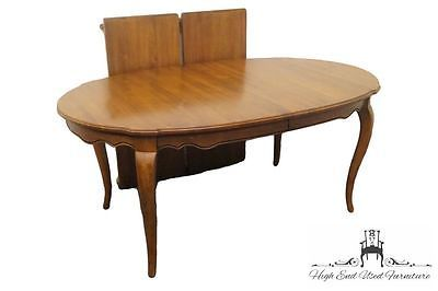 Ethan Allen Country French 106 Oval Dining Table Bordeaux 216