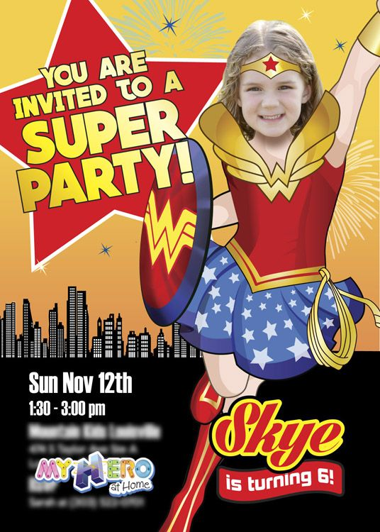 Wonder Woman Birthday Invitation Sample Wonder Woman party Ideas - invitation letter for home party