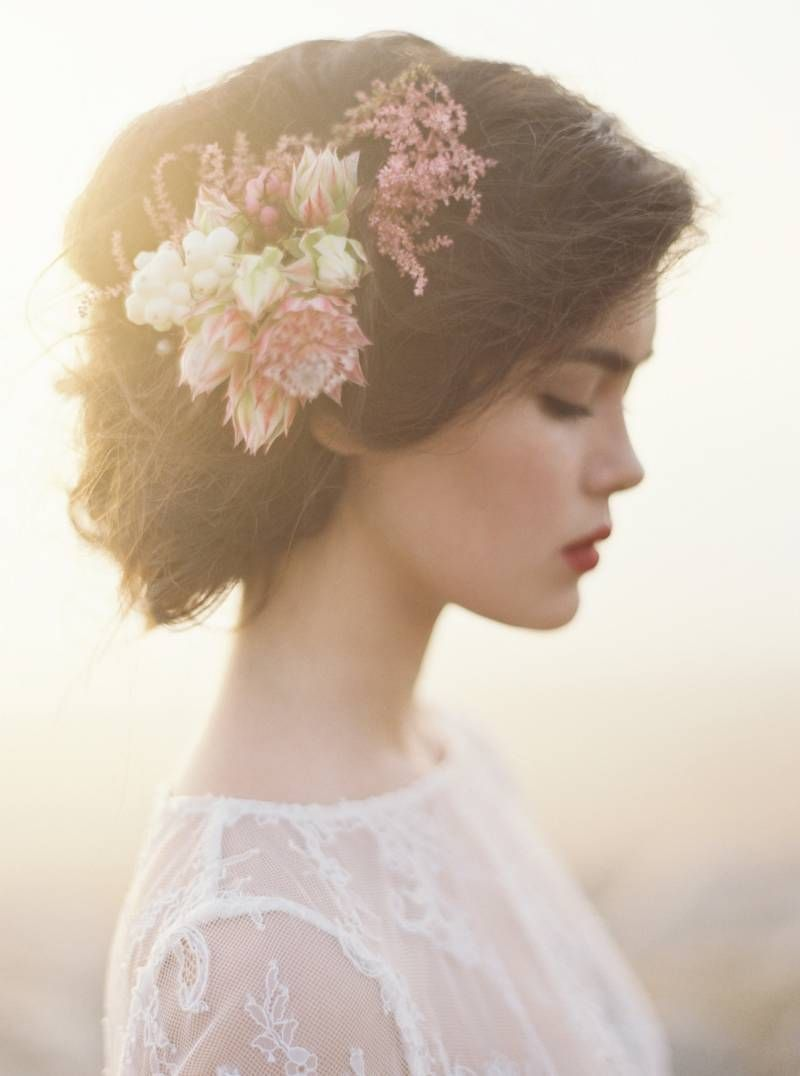 Wedding beach hair  A strikingly beautiful beach wedding editorial by This Modern