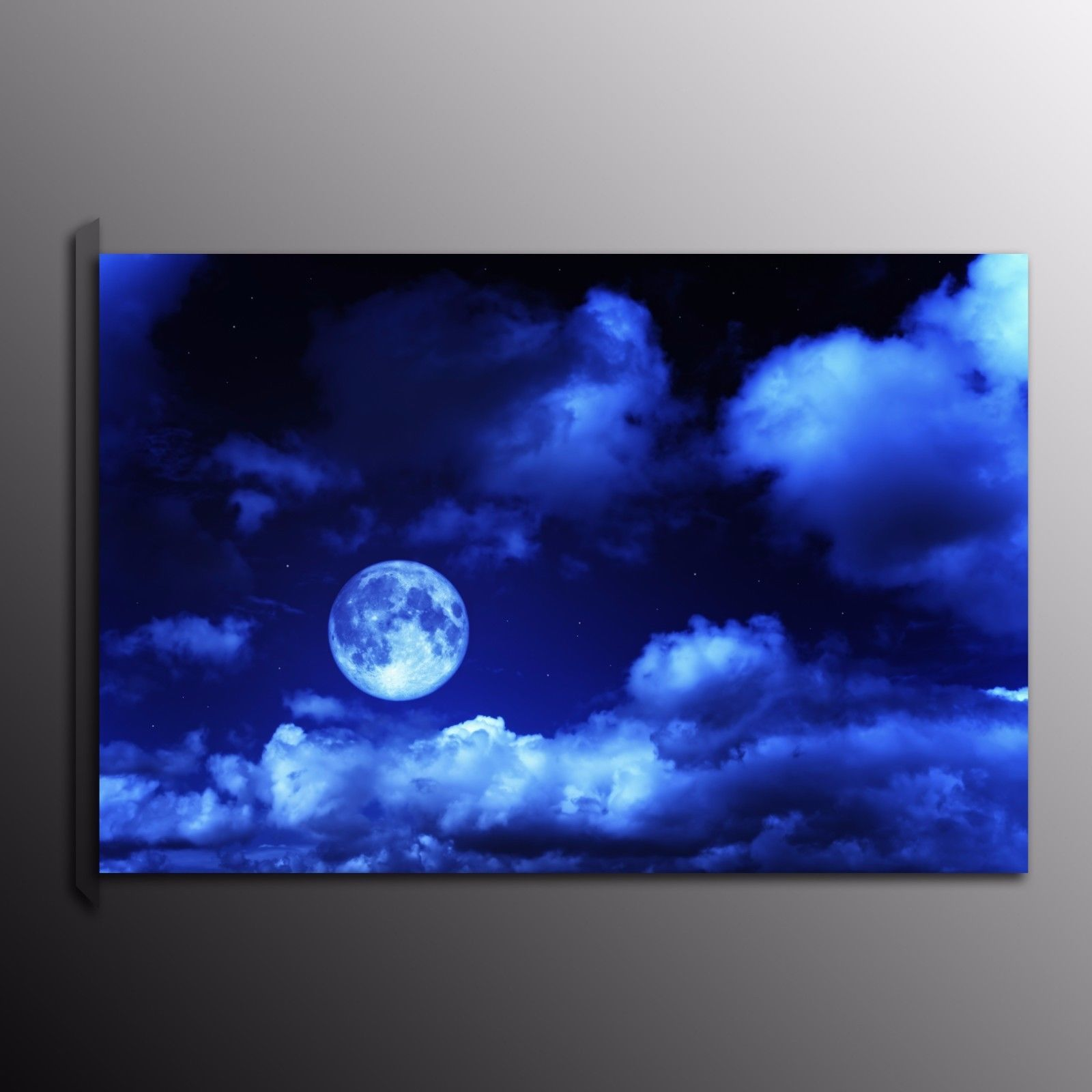 hd canvas print painting picture blue moon wall art home