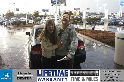 Congratulations to Ryan Klopack on your #Honda #Civic purchase from Jt Sherrard at Honda of Denton! #NewCar