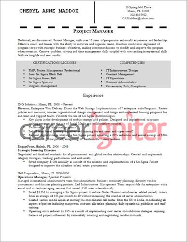 Project Management Resume Project Manager Resume Sample  Resume  Pinterest  Project