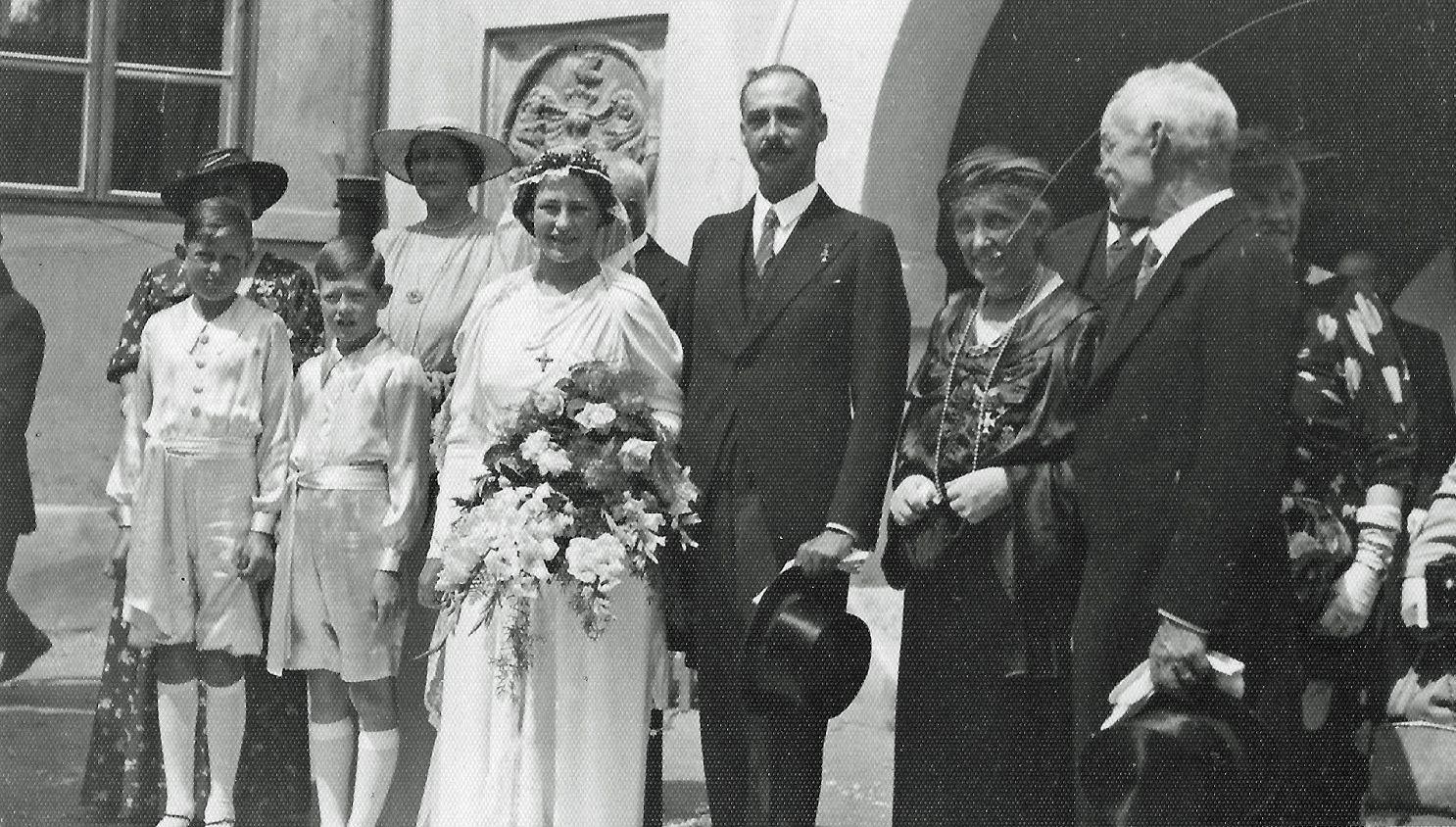 Archduke Gottfried of Austria -Tuscany (1902 - 1984) and Princess Dorothea of Bavaria (1920 – 2015 wedding  2 August 1938  Sárvár, Hungary.