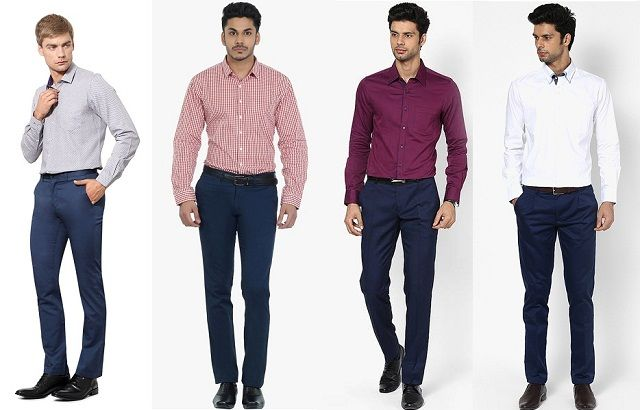 Men S Guide To Perfect Pant Shirt Combination Blue Pants