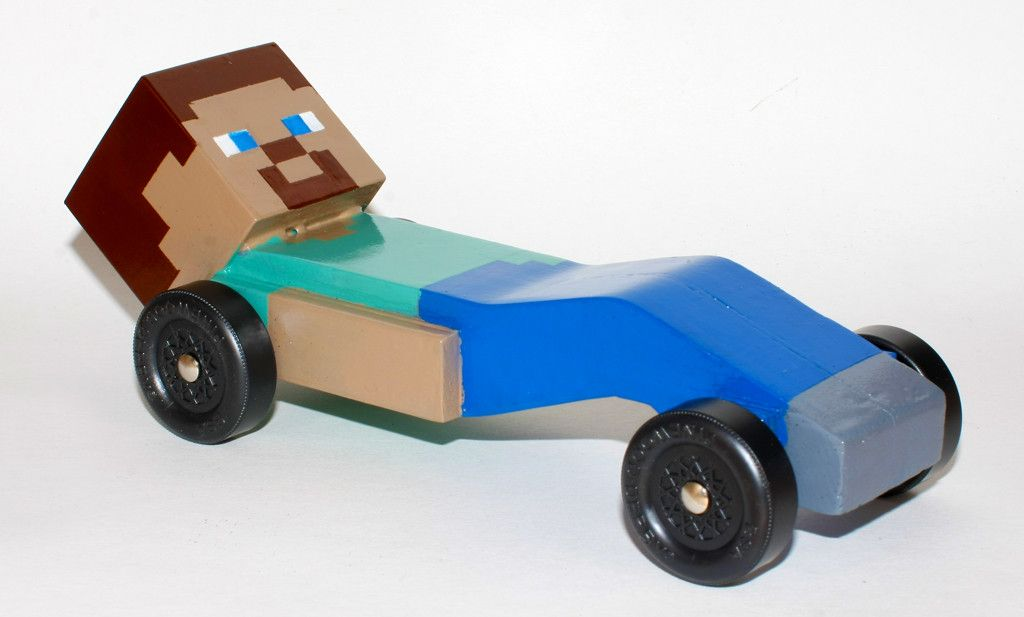 So my son wanted a Minecraft Pinewood Derby car this year ...