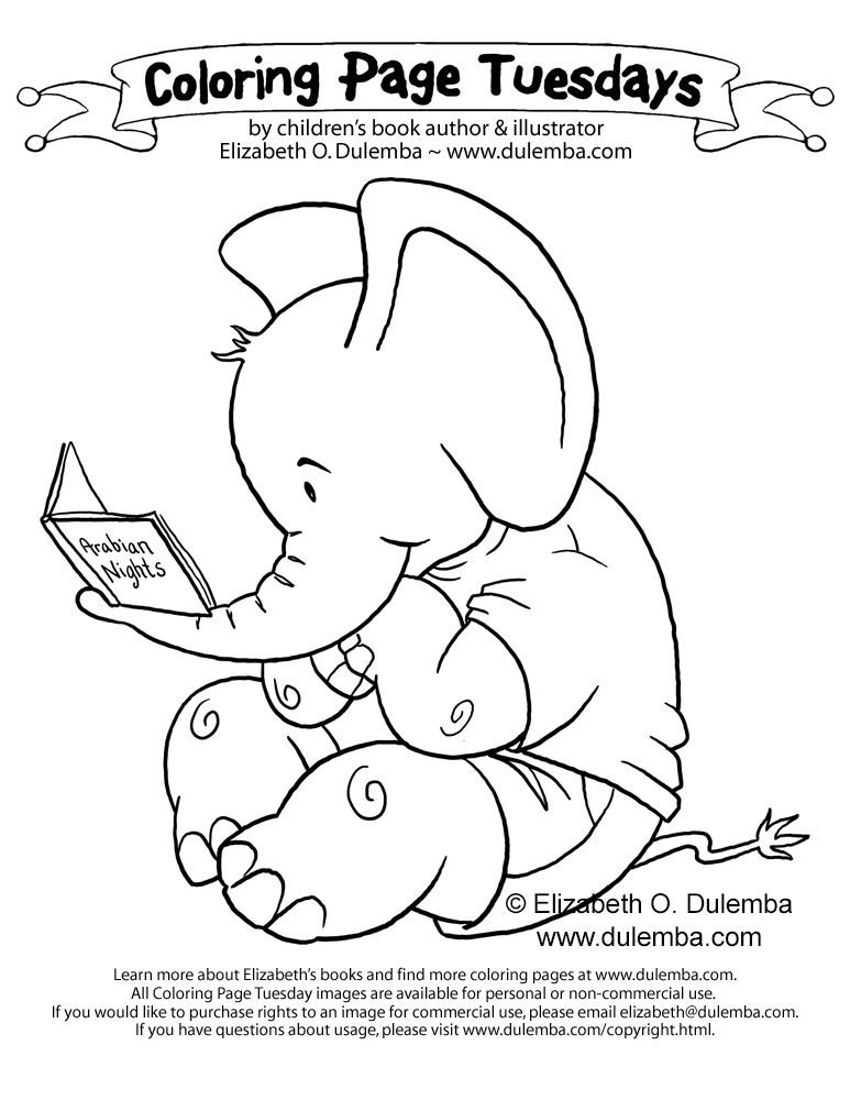 Coloring Page Tuesday E Is For Elephant Coloring Pages