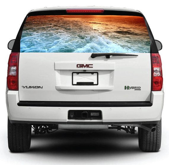 Ocean Car Decal Decal For Truck Suv Pick Up Rear Window