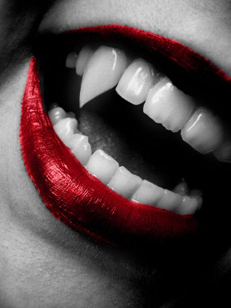 Red Lips Sharp Teeth Iron Fist Clothing Inspiration Vampire