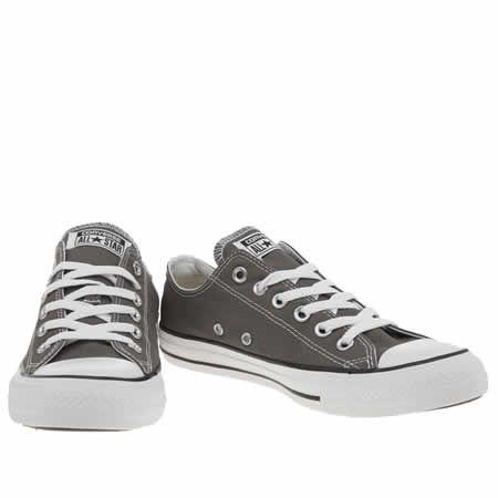 discount dark grey converse womens 9e63f aac08