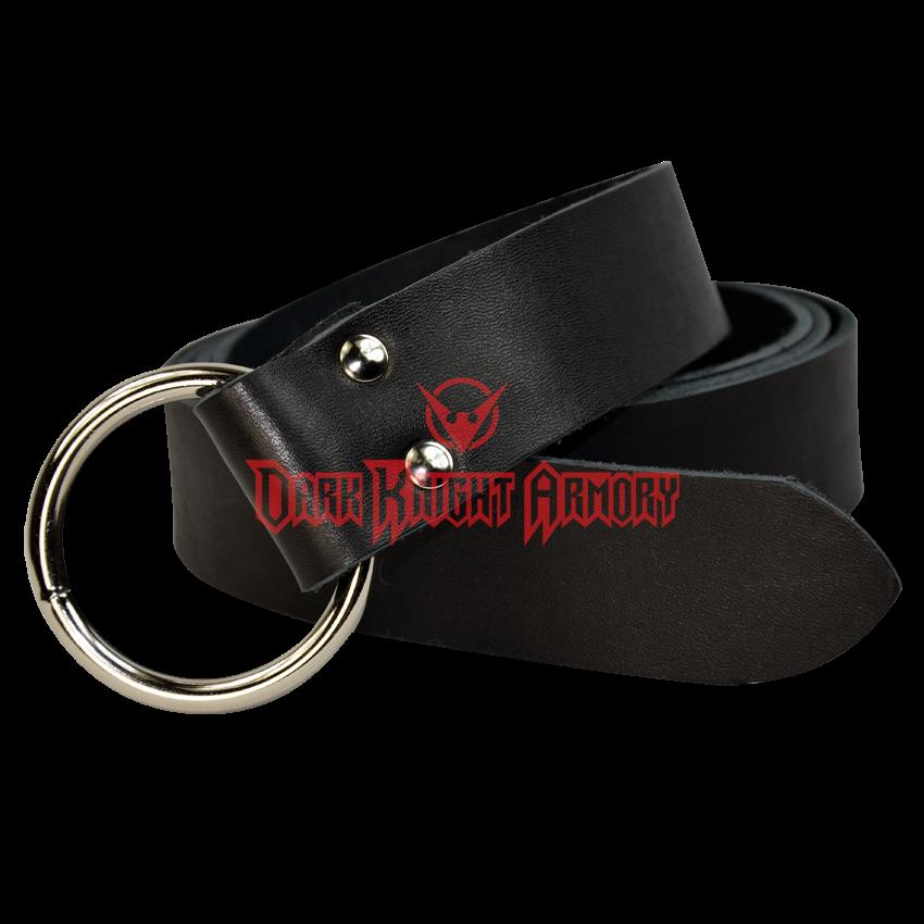 """Leather Renaissance Medieval SCA LARP CELTIC belt black hand made 3 cm 1-3//16/"""""""