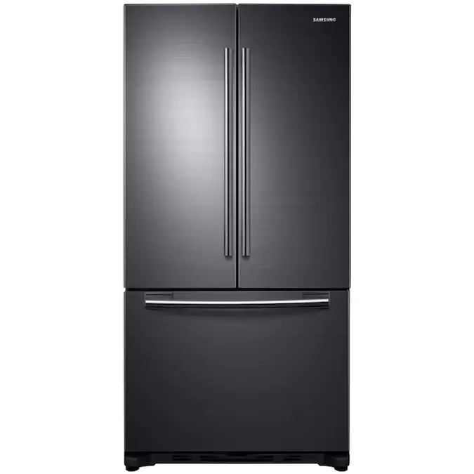 Samsung 17 5 Cu Ft Counter Depth French Door Refrigerator With Ice Maker Fingerprint Resistant Black Stainless Steel Lowes Com In 2020 Samsung Refrigerator French Door Samsung French Door French Door Refrigerator