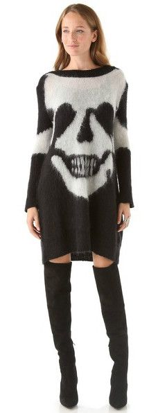 Alexander McQueen  Skull Intarsia Sweater Dress x