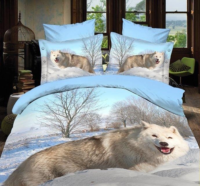 3d Bedding Sets Animal 3d Wolf Sheet Set Bed Set