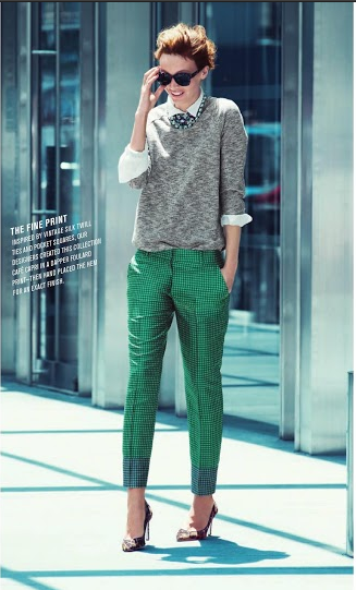 J. Crew Style Guide November 2012 with LOOMKNIT SWEATSHIRT IN HEATHER