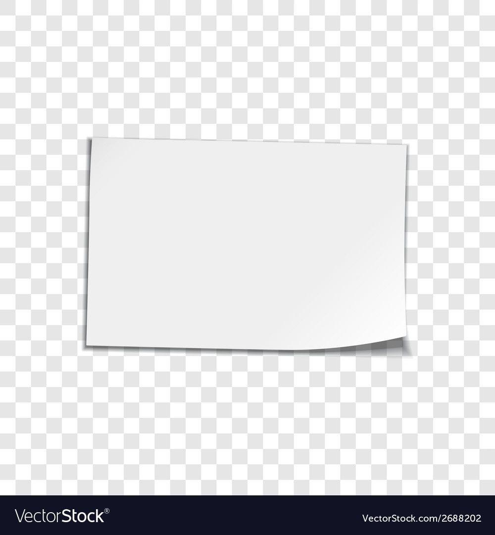 Paper Sheet On Transparent Background Royalty Free Vector Regarding Paper Transparent Background22357