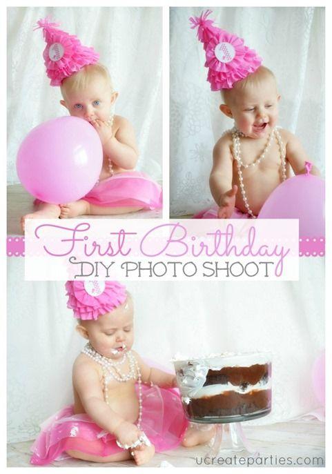 Diy 1st Birthday Photo Shoot At Ucreateparties Com 1st Birthday Photos Birthday Photoshoot Diy First Birthday Party Hat