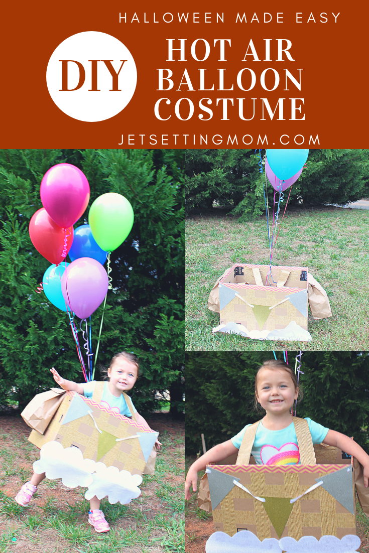 DIY Hot Air Balloon Boxtume Halloween Made Easy Diy