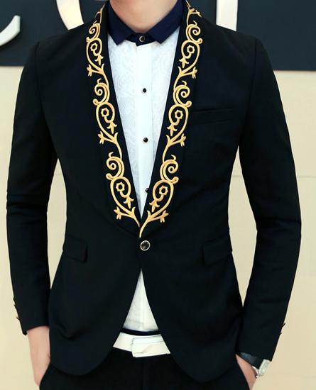 Fancy Retro Mens Paisley Blazer Floral Tan Black Elegant Style ...