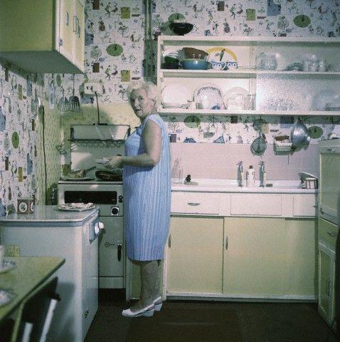 Mom Louise In Her Kitchen George Harrison The Beatles John Lennon Beatles