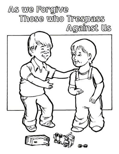 jesus teaches forgiveness coloring pages - photo#6