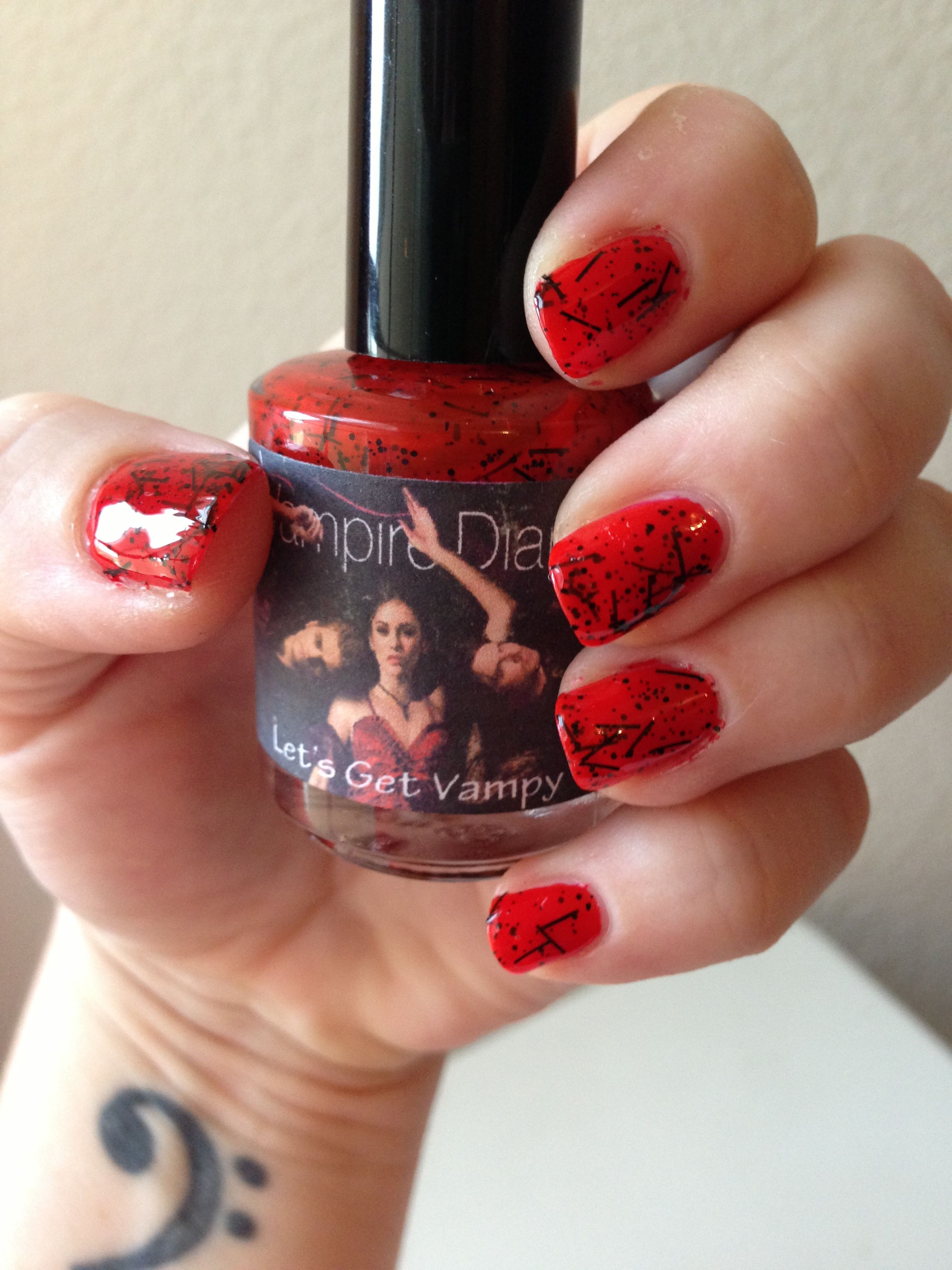 Honey buttons polish custom vampire diaries collection lets 50 beautiful the vampire diaries nail art ideas prinsesfo Gallery