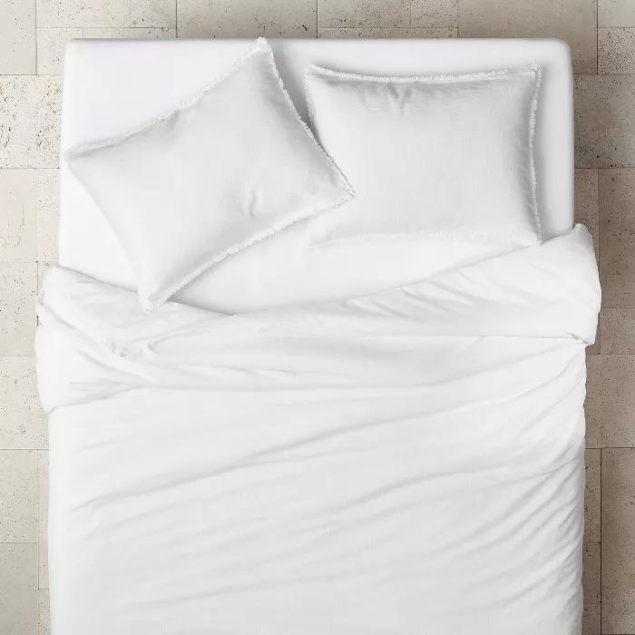 Heavyweight Linen Blend Duvet Pillow Sham Set Casaluna Linen Blend Duvet Target Bedding Duvet Covers