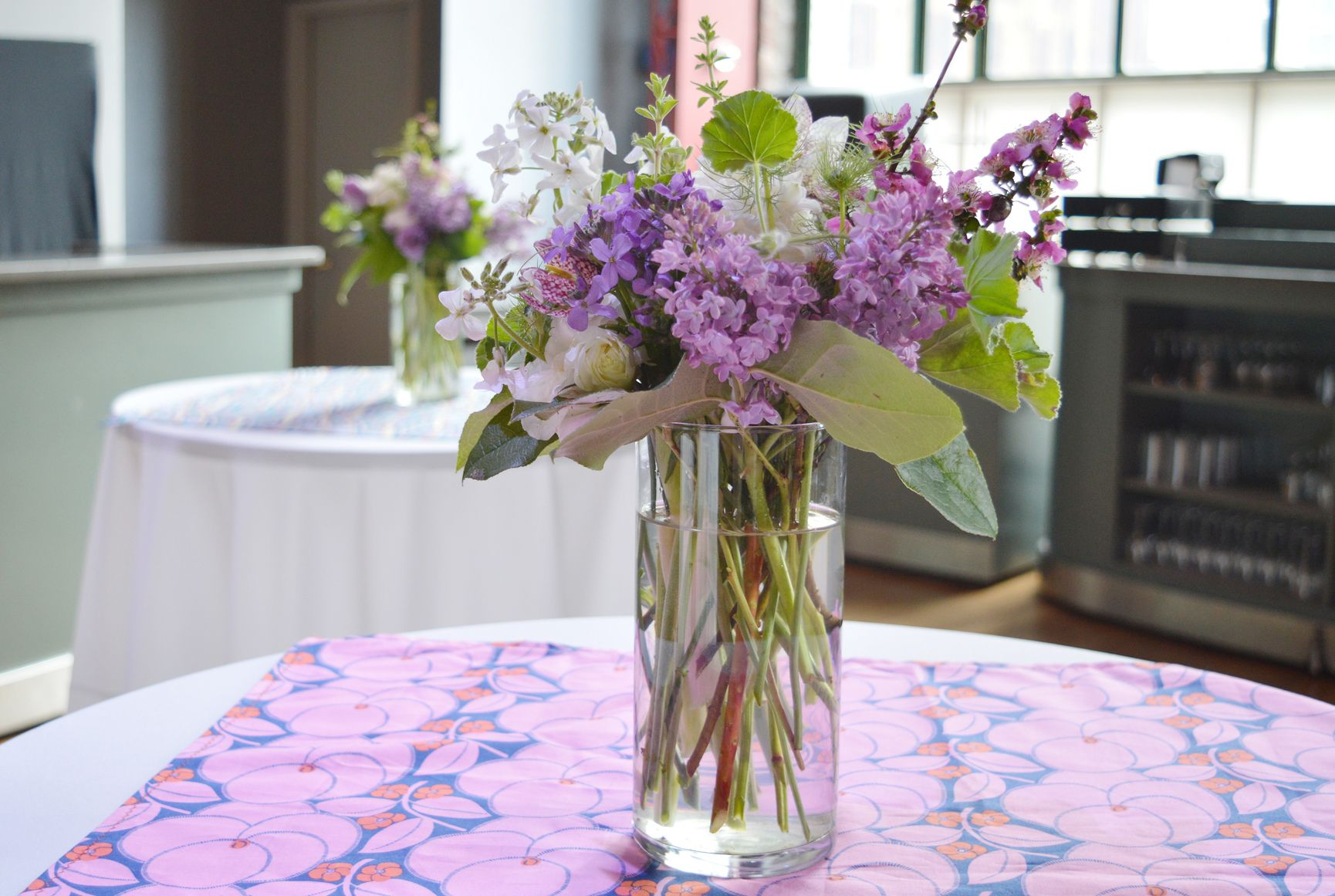 Lilac arrangement at bam with images same day flower