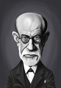 Sigmund Freud by robart at zippi.co.uk art | decor | wall art | inspiration | caricature | home decor | idea | humor | gifts