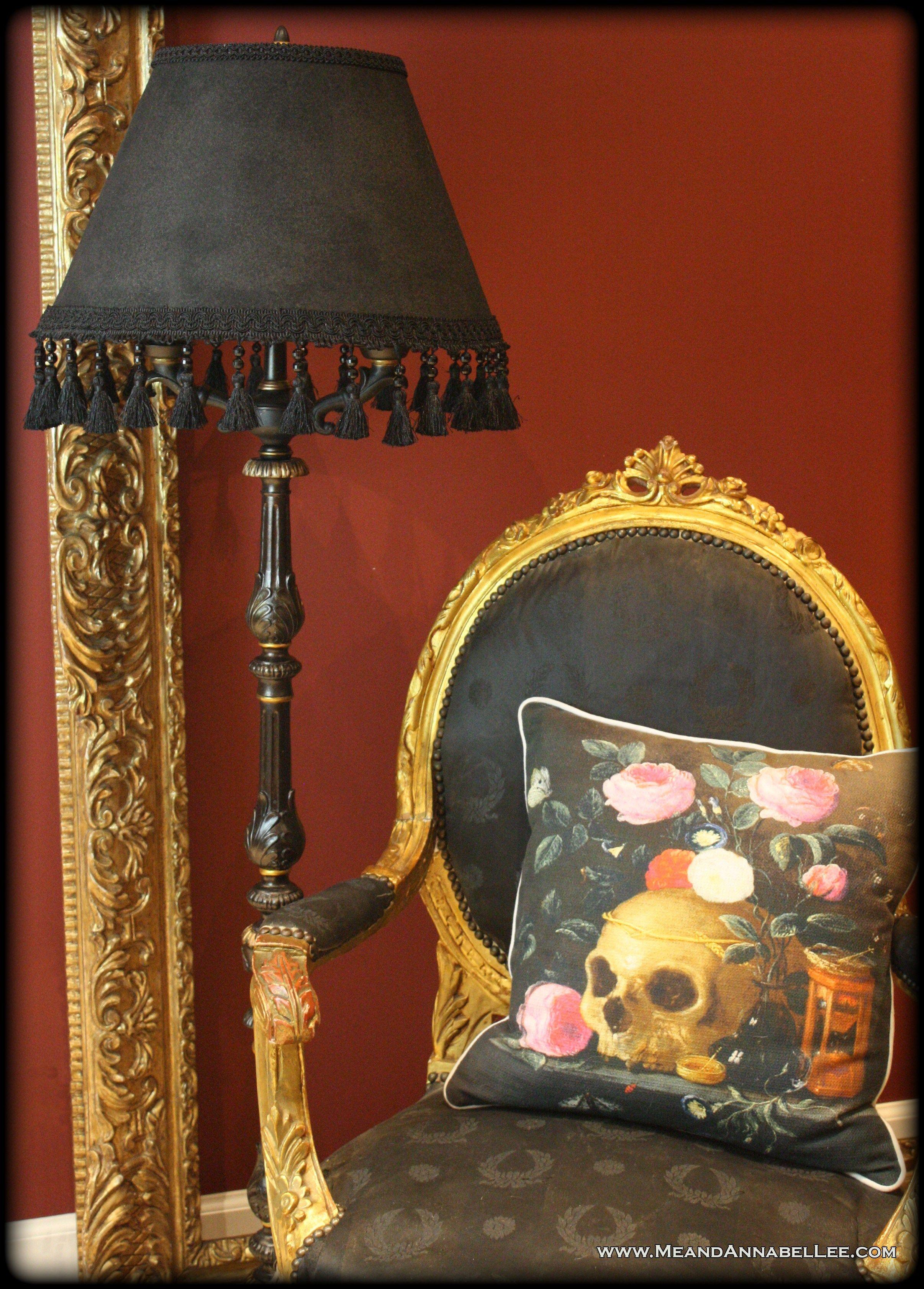 Diy Victorian Gothic Black Lamp Shade Floor Lamp Goth Home