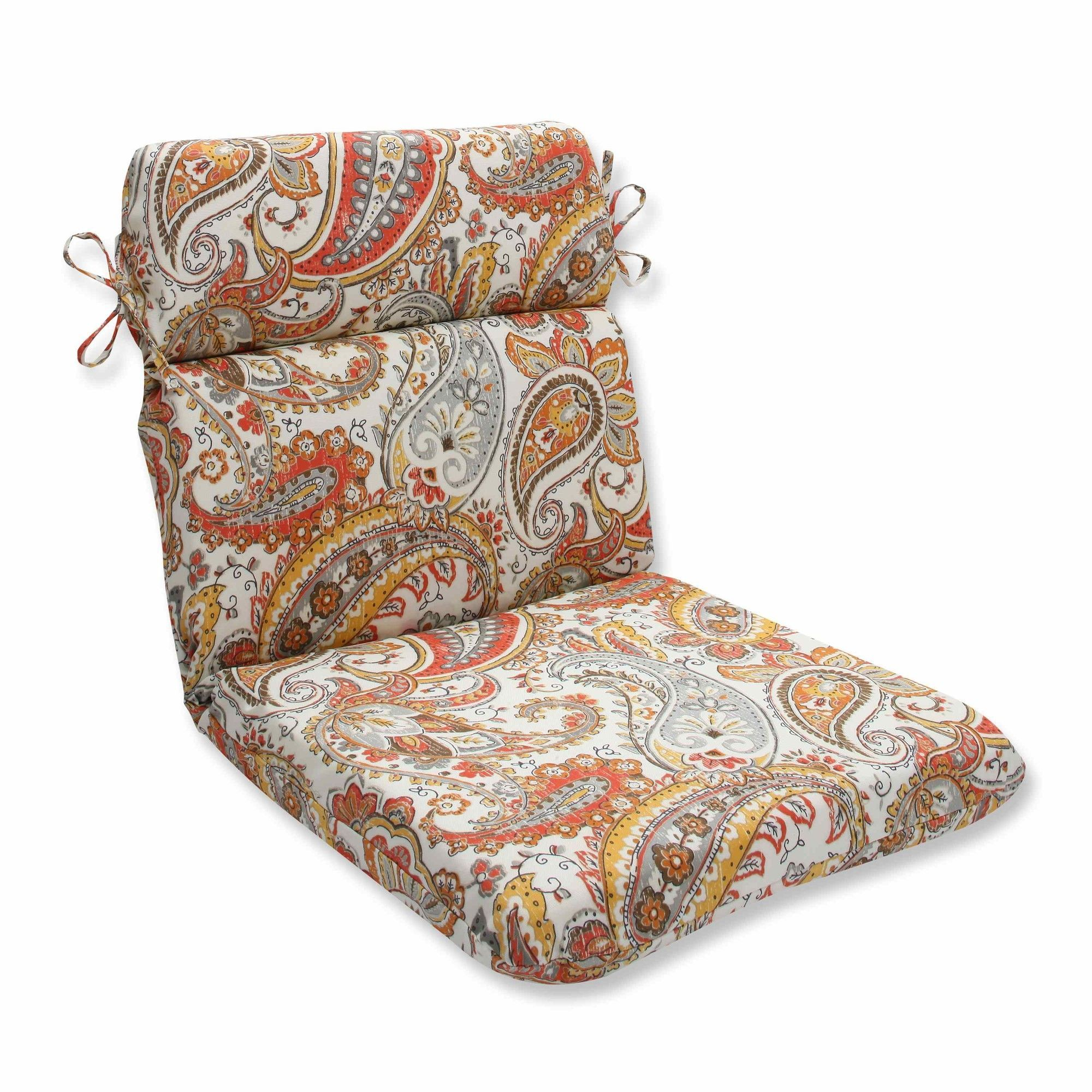 Hadia sunset outdoor dining chair cushion dining chair cushions